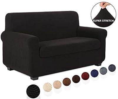 TIANSHU Sofa Cover 2 Piece Couch Cover & Velvet Sofa Cover