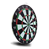 LIUXR Professional Dart Boards for Adults - Pro Dart Board for Steel Tip Darts - 12-Inch Tournament Dartboard with 6 Darts Indoor or Outdoor Dartboards,Black