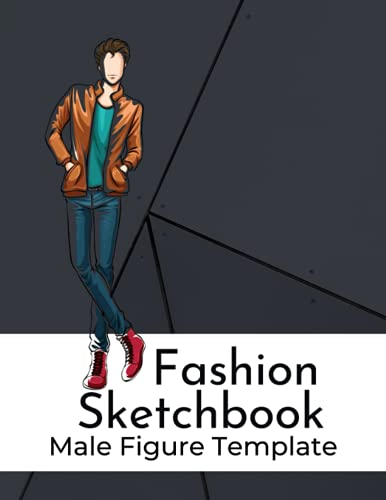 Fashion Sketchbook Male Figure Template: Professional Illustration Large Male Croquis (Designing clothes for artists and fashion lovers) (Figure ... and Building Your Portfolio) (Sketchbooks)