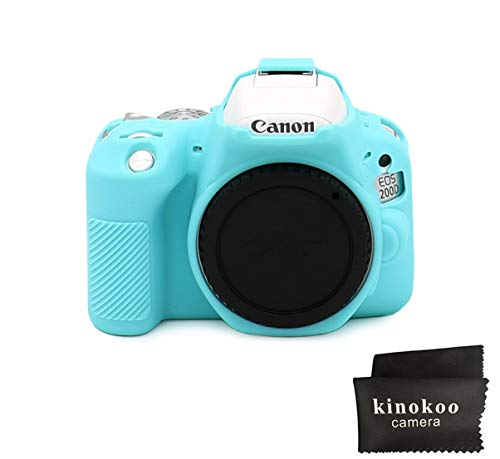 kinokoo Silikonhülle für Canon EOS 200D / Rebel SL2 Rebel SL3 EOS 250D/200D II Schutzhülle (blau)