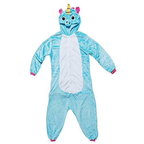 Katara- Pijama (10+ Modelos) Halloween Disfraz Animales Cosplay Adultos, Color unicorno turquesa-rosa, Talla 165-175cm (1744)