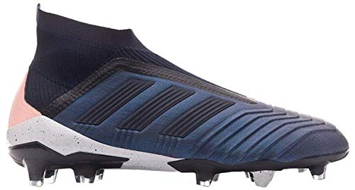 adidas Predator 18+ FG, Bota de fútbol, Trace Blue-Legend Ink-Clear Orange, Talla 7 UK (40 2/3 EU)