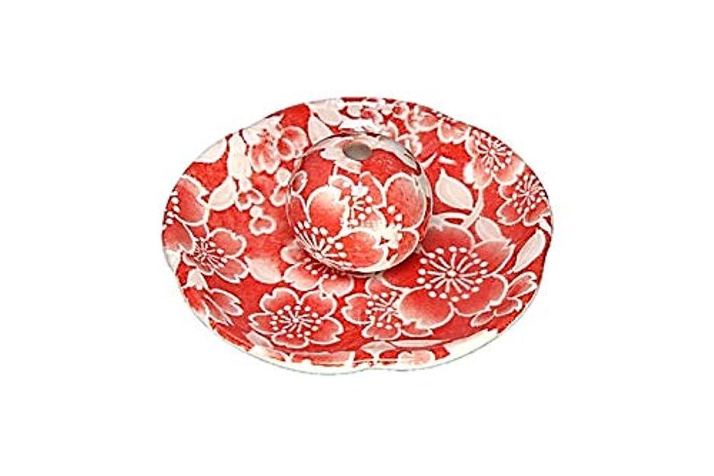 抑圧スポーツをする共感する桜友禅 赤 花形香皿 お香立て お香たて 日本製 ACSWEBSHOPオリジナル