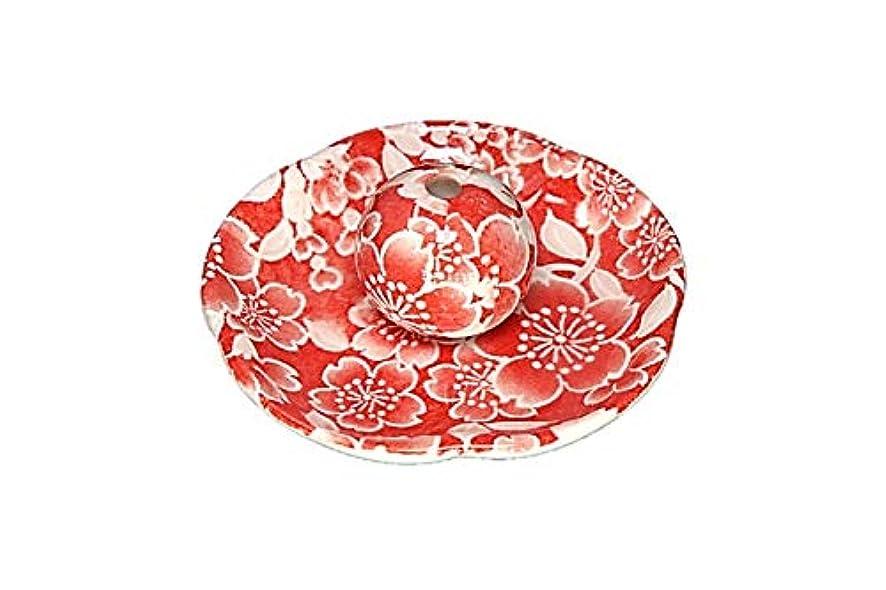 エアコン告白する全部桜友禅 赤 花形香皿 お香立て お香たて 日本製 ACSWEBSHOPオリジナル