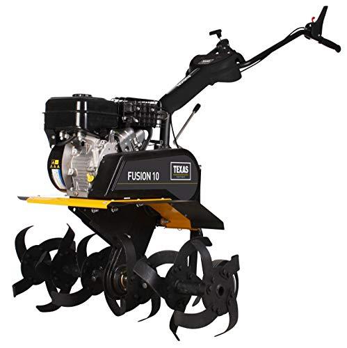 TEXAS Fusion 10B Benzin Motorhacke I Bodenhacke mit 4,8 kW I Gartenhacke I Arbeitsbreite 35-90 cm I 8 Rückwärts- und 4 Vorwärtsgänge
