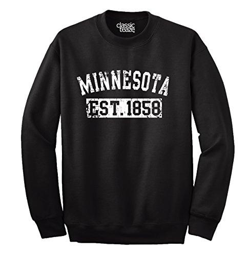Minnesota Original Travel Tourist Gift Crewneck Sweatshirt Black