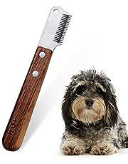 Cuchillo de corte para perros con mango de madera sin filo Dachshund de pelo duro Dachshund Fine Guard Terrier, cuchillo de pelar mediano Cuchillo de corte marrón Herramienta de aseo para mascotas