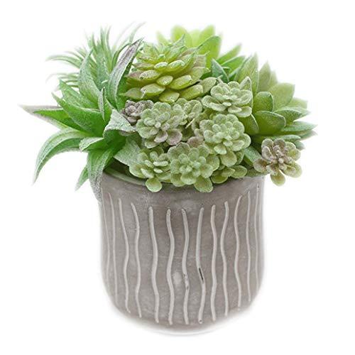 7 plantas falsas suculentas artificiales sin macetas, suculentas sintéticas para decoración del hogar, regalos de Pascua, día de San Valentín