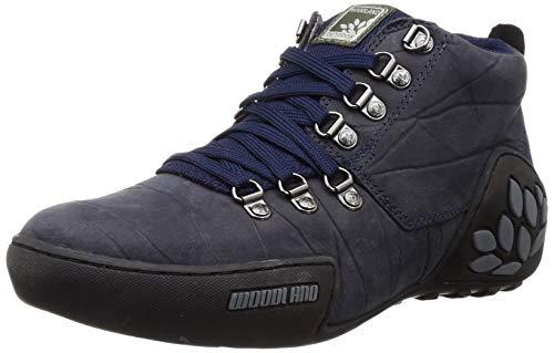 Woodland Men's Navy Leather Sneaker-9 UK (43 EU) (GC 1869115)