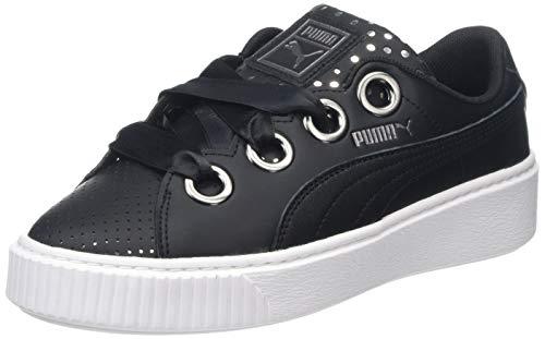 Puma Platform Kiss ATH Lux, Scarpe da Ginnastica Basse Donna, Nero Black Black 02, 37 EU