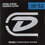 Cordes pour guitare électrique Dunlop DEN1052 10 Light / Heavy 10-52 Nickel