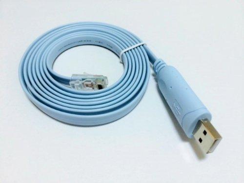 【CISCO互換ケーブル】FTDI chipset USB RJ45 コンソールケーブル