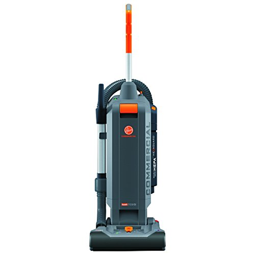 Hoover Commercial HushTone Upright Vacuum Cleaner, 13 inches with Intellibelt, Gray