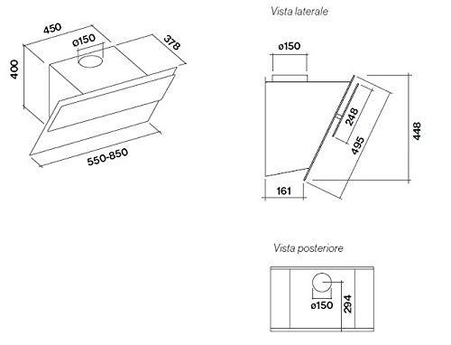 Falmec Verso - Campana extractora (55 cm), color negro: Amazon.es: Grandes electrodomésticos