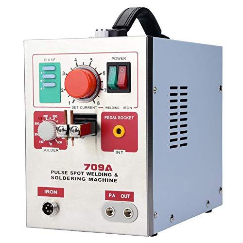 Jadpes Máquina de Soldadura por Puntos de batería,soldadora por Puntos de 3.2kW con Pluma de Soldadura Máquina de Soldadura por batería de Bricolaje para soldar Hierro de Acero Inoxidable(UE:220V)