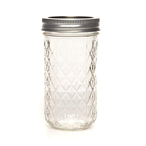 Ball Mason 12oz Quilted Jelly Jars with Lids and Bands, Set of 12