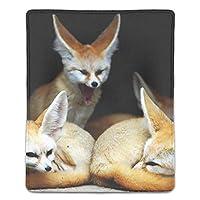 マウスパッド レーザー&光学式マウス対応 フォックスフェネックファミリー野生動物赤野生動物