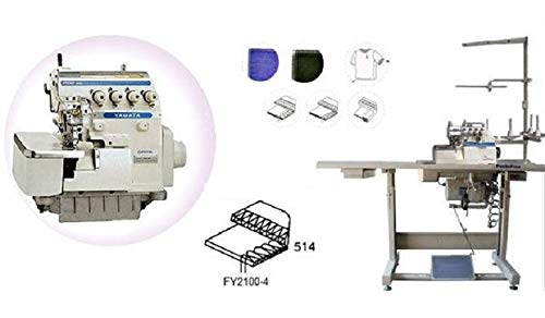 Yamata Industrial Overlock Sewing Machine, K.D Table & Servo Motor with Ikonix, LED Light DIY.