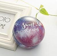 Yan ロマンチックなバレンタインデーのキャンディボックスフラットラウンドキャンディボックスジュエリーギフトボックス鳥トートホームガーデンお祝いパーティー用品、カラー:ブルースカイ