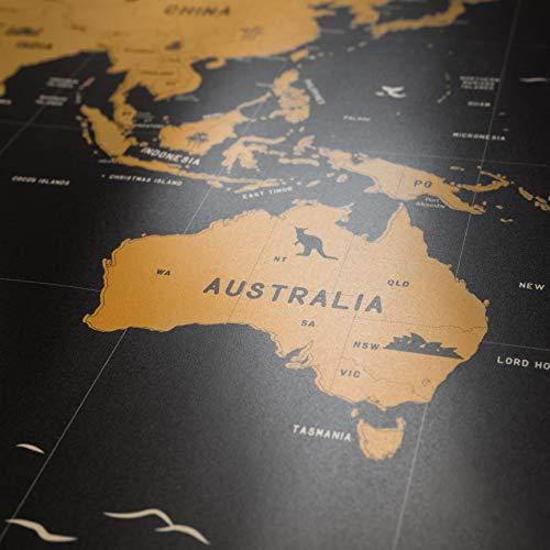 Cartina Mondo Con Bandiere.Fotoe20 It Shop Envami Mappa Del Mondo Da Grattare I 68 X 43 Cm I Idee Regalo I Mappamondo Da Grattare Con Bandiere I Scratch Off Map I Mappa Da Grattare I