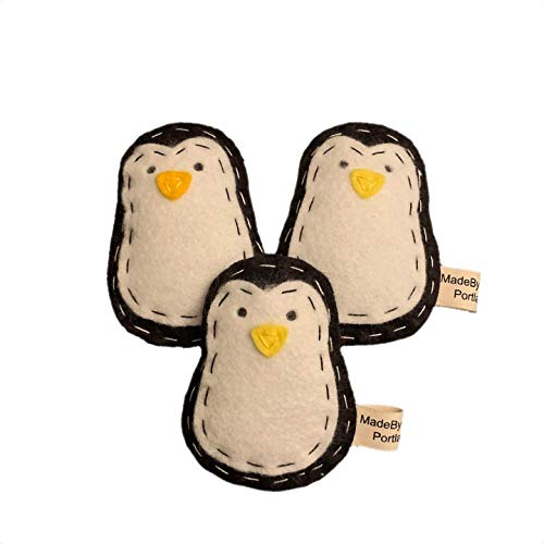 Penguin   Organic Catnip Cat Toy   Wool-blend Felt