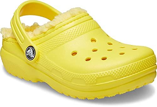 Crocs Classic Lined Clog K, Obstrucción, Lemon, 21.5 EU