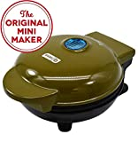 DASH UOW100GO The Mini Machine for Individual, Paninis, Hash browns Waffle Maker, Olive Green