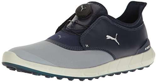 Puma Men's Ignite Spikeless Sport Disc Golf-Shoes, Quarry-Peacoat, 10 Medium US