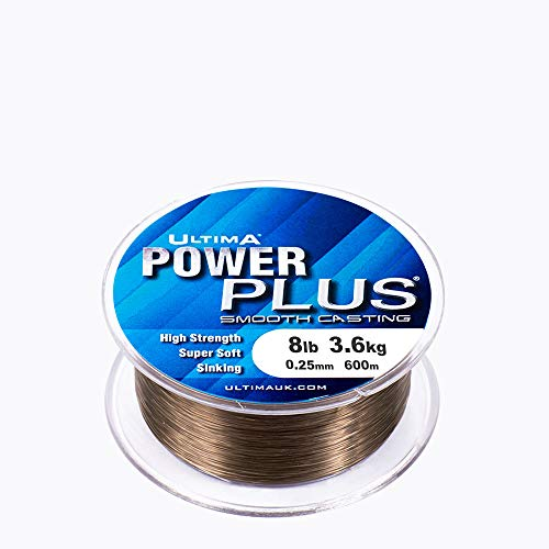 Ultima E0470 Power Plus Extra Strong Coarse Match and Feeder Fishing Line - Dark Olive, 0.25 mm -...