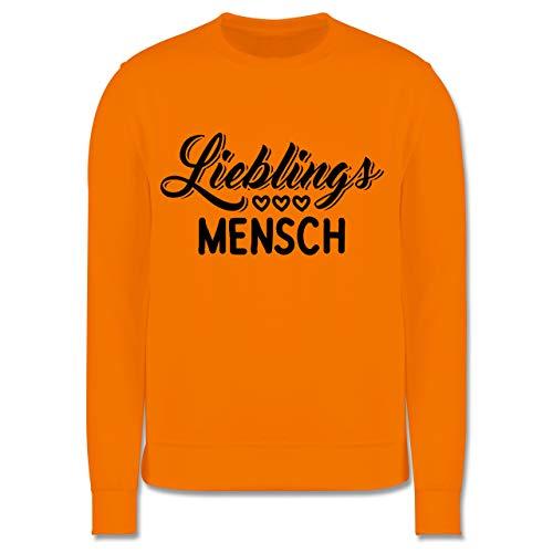 Shirtracer Anlässe Kinder - Lieblingsmensch - schwarz - 140 (9/11 Jahre) - Orange - Pullover - JH030K - Kinder Pullover