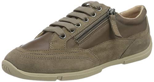 Geox Damen D AGLAIA C Sneaker, Dark Beige, 39 EU