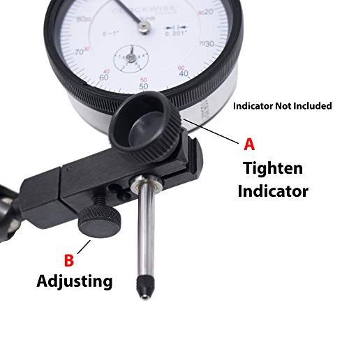 Clockwise Tools MGBR-01 Magnetic Base Stand for Digital Dial Indicator Gauge 176lbs Max Pull