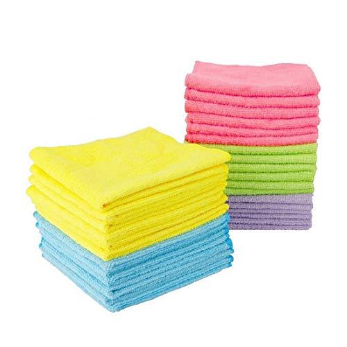 Leviatan 30 Stück Mikrofaser-Reinigungstücher Putztücher | Allzwecktücher 30x30cm