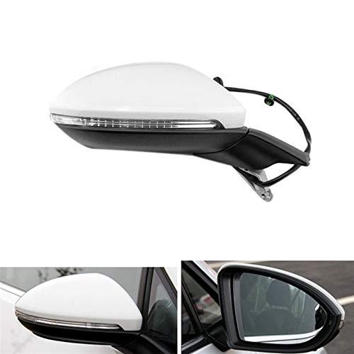 Vista lateral espejo eléctrico plegable retrovisor espejo de espejo espejo de calefacción con ajuste ligero fit for golf 7 mk7 2014-2016 5gg 857 507 Cubierta del espejo retrovisor ( Color : Right )