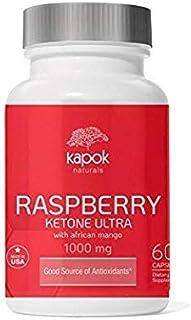 New Kapok Naturals Raspberry Ketones (60 NonGMO Veggie Caps). Raspberry Keytone with Green Tea, African Mango, Apple Cider...