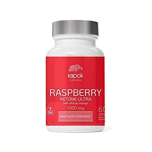 New Kapok Naturals Raspberry Ketones (60 NonGMO Veggie Caps). Raspberry Keytone with Green Tea, African Mango, Apple Cider Vinegar, Kelp & Grapefruit Designed to Naturally Reduce Cravings & Burn Cals