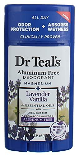Dr Teal's Vanilla Lavender Deodorant, Aluminum Free 2-pack