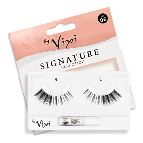 By Vixi De Faux Cils (Réutilisable avec 1g de COLLE) Bande Transparent Ultra Confortable - Signature No. 06