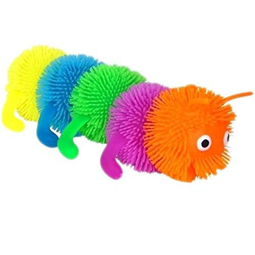 5 ball caterpillar squeeze sensory autism ADHD therapeutic stress relief toy
