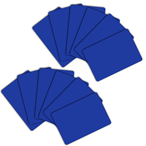 DA VINCI 12 Bridge Size Narrow 2.25 x 3.5 Inch Casino Quality Plastic Plastic Cut Cards, Blue