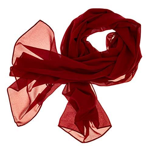DOLCE ABBRACCIO by RiemTEX DOLCE ABBRACCIO by RiemTEX ® Schal Damen SWEET LOVE Stola Chiffon Tuch in 30 Unifarben Schals und Tücher Halstücher XXL Chiffontücher in kräftigem Rot Halstuch für jede Jahreszeit (Rot)
