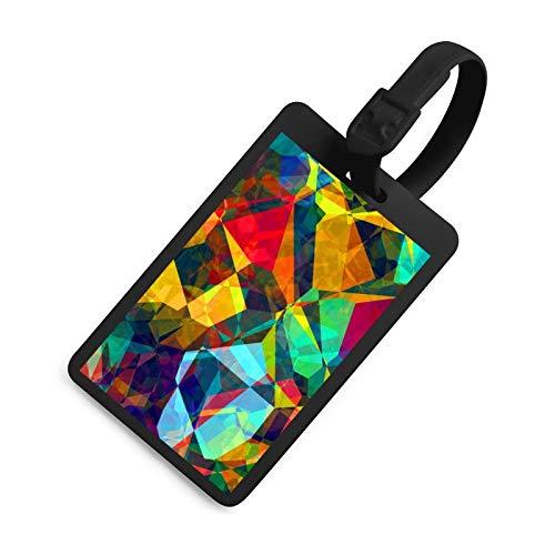 Luggage Tag, Registration Card, Bag Label, Black Sling, Bright Color, High Recognition, Color Fastness, Information Card, Soft and Comfortable Handle