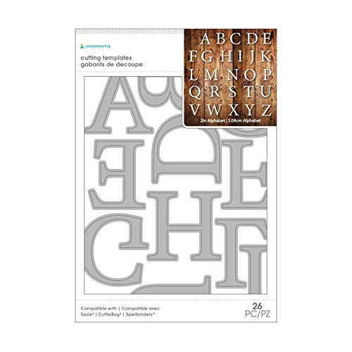 Momenta Die Alpha 2 In Serif - 26 Piece Kit - Full Alphabet of Versatile Steel Die Cut Templates - Add Detail to Scrapbooks, Greeting Cards, Mailboxes, Etc.