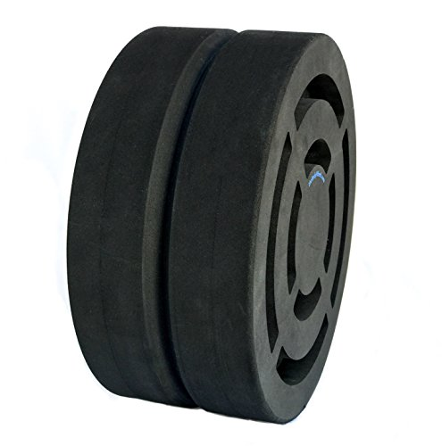 "Body Wheel 15"" Yoga Wheel for Yoga, Stretching, Fitness, and Acrobatics: Designed for Comfort and Versatility (15-inch Black v2)"