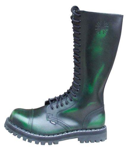 Steels 20 Loch Boots Grün Rub Off, Grösse 41