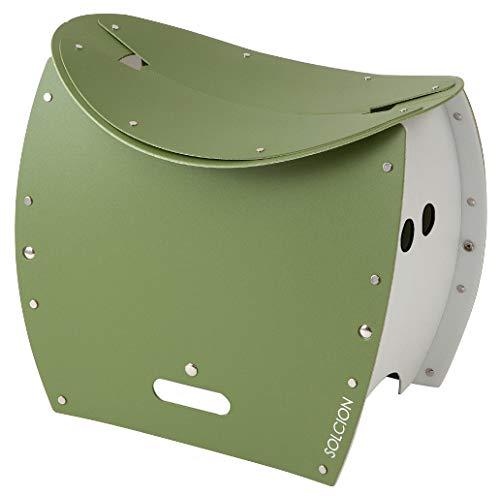 SOLCION 折りたたみチェア オリーブ 折りたたみ式スツール&TOILET PATATTO350+ パタット350プラス 645065
