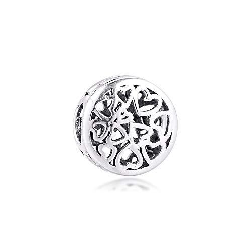 Pandora 925 pulsera de la joyería natural se adapta a la verdadera plata esterlina sentimientos amorosos encantos granos para el partido para las mujeres regalo