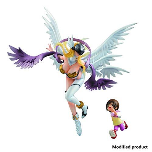 Siyushop Digimon Adventure: Angewomon & Hikari PVC-Figur - Hochdetaillierte Skulptur - Hoch 9,8 Zoll