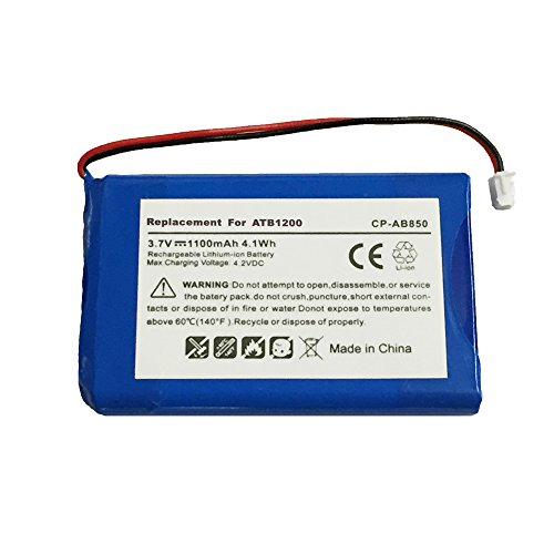 MPF Products High Capacity 1100mAh ATB-850 ATB-950 ATB-1200 Battery Replacement Compatible with RTI T1 T1-B T2 T2+ T2-B T2-C T2-Cs T3 & TheaterTouch Universal Remote Controllers