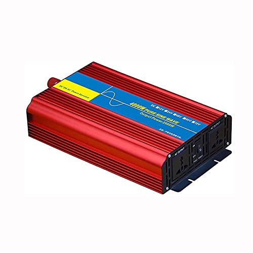COUYY Inverter 12V / 24V a 220V Automatic Switching Automatic Intelligent Identification Adapter Adattatore 4000W / 6000W Pure Sine Wave Power,24v 220v 4000w